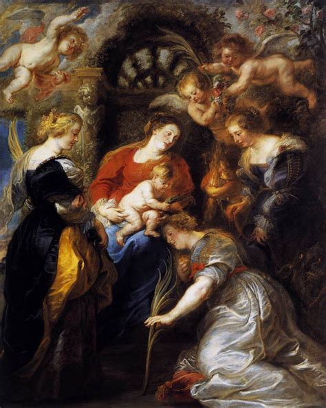 crowning  st catherine  rubens peter paul