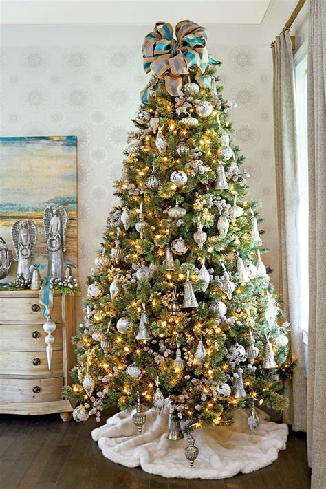 white tree with gold decorations tree decorating ideas southern living