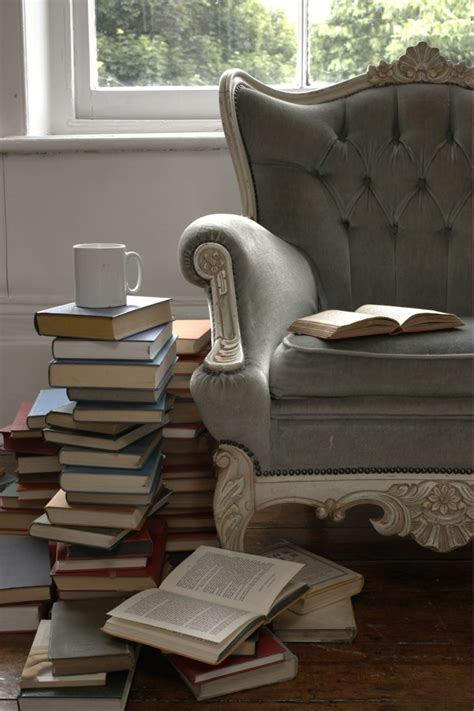 furniture grey comfortable reading chair with tufted wing