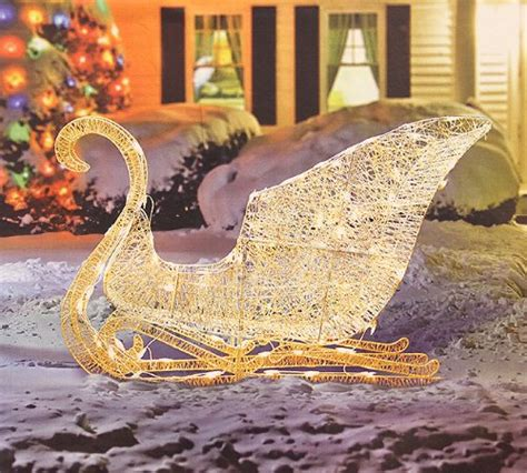 outdoor sleigh decorations  celebrate  season