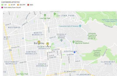 power outage affects berkeley south  campus