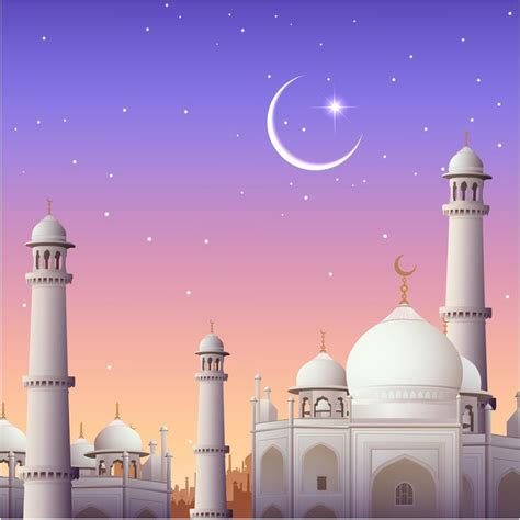 mosque eid card design vector background background