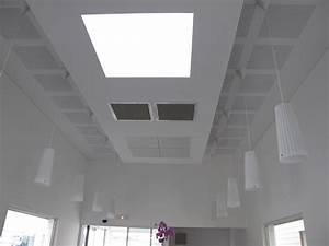 Pose De Faux Plafond : faux plafond de bureau r alisation de faux plafond pose ~ Premium-room.com Idées de Décoration