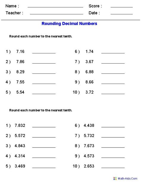 rounding worksheets with decimals this worksheet was built to aligns to common core standard 5