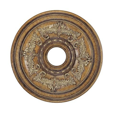 shop livex lighting 22 in x 22 in polyurethane ceiling medallion at lowes com