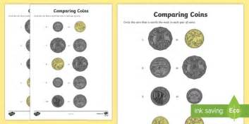 comparing coins worksheet activity sheet australian