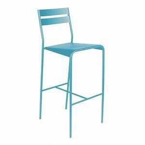 Tabouret De Bar Bleu : tabouret de bar facto de fermob bleu turquoise ~ Teatrodelosmanantiales.com Idées de Décoration