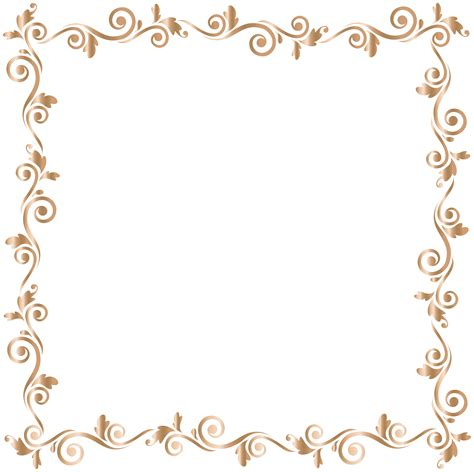 border frame gold png clip gallery yopriceville high quality and