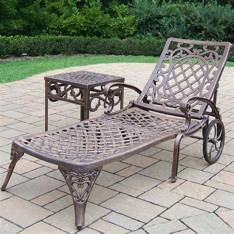 oakland living mississippi 2 pc cast aluminum lounge set