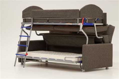 Bunk Beds With Couches Underneath by Luonto Furniture Makes A Sofa That Transforms Into A Bunk Bed