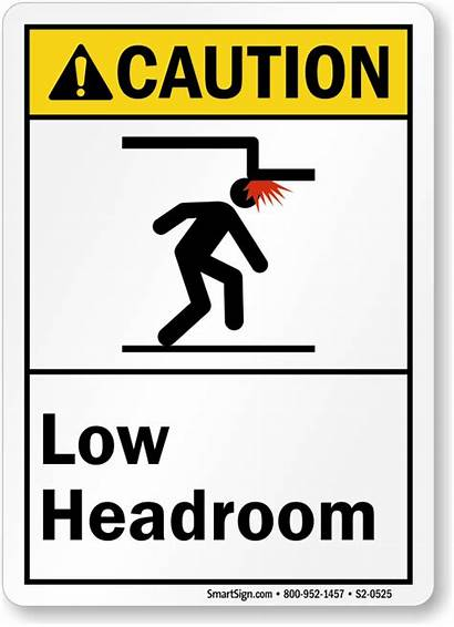 Clearance Low Sign Headroom Head Caution Ansi