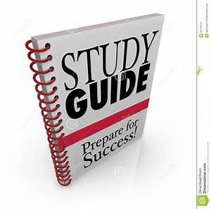 Study Guide Book Cover Preparing For Exam Stock