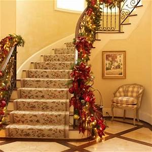 Staircase Christmas Decorations Christmas