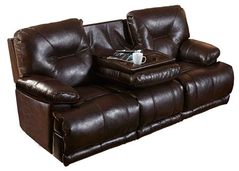 reclining sofa with drop down table mercury godiva power lay flat reclining sofa with drop