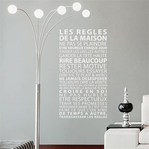 stickers regles de la maison sticker les r 232 gles de la maison d 233 coration murale design gali