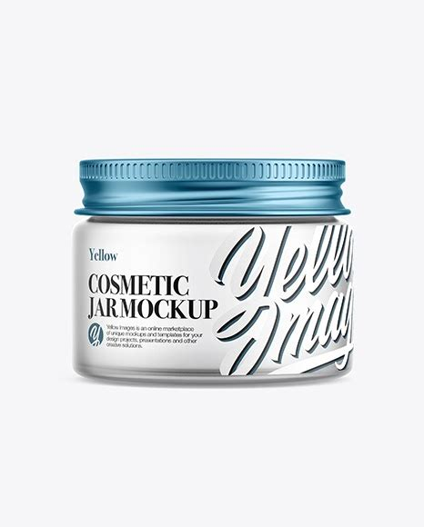 Clean and sharp packaging mockups i want to know more even 3$ for a single mockup! Frosted Glass Cosmetic Jar with Metallic Cap Mockup ...