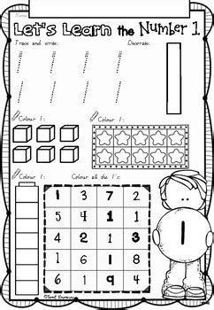 lets learn numbers    worksheets  victorian