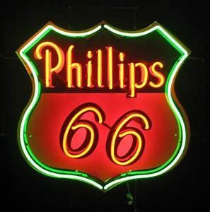 Phillips 66 gas neon sign Pop Culture
