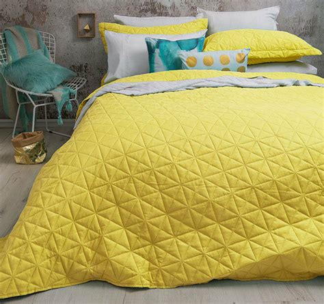Yellow Coverlets by 3 Pce Regent Yellow Embossed King Coverlet