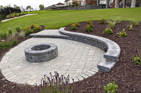 Paver Patio Ideas With Fire Pit by Patios Hardscapes Winnipeg Paving Stone And Retaining