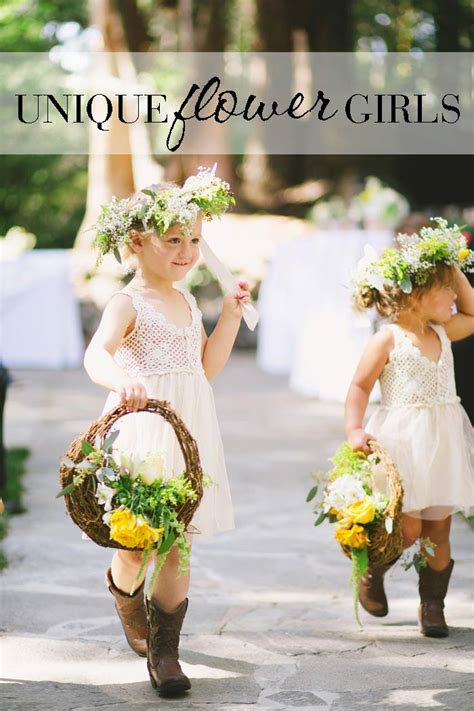 Unique Flower Girl Ideas Alternatives To Throwing Petals