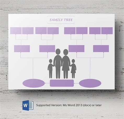 family tree templates  generation inversed