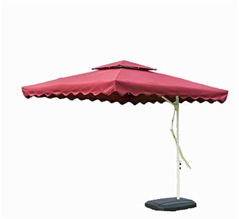 tylors garden   ft cantilever outdoor patio umbrella  cross stand uv resistant