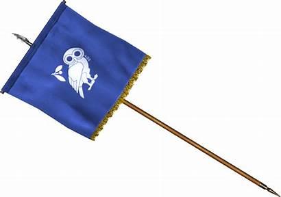 Standard Athenian Flag Rome Blade Mount War2