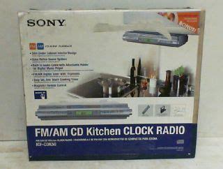 cabinet kitchen cd clock radio sony icf cdk50 cabinet kitchen cd player am fm clock 9522