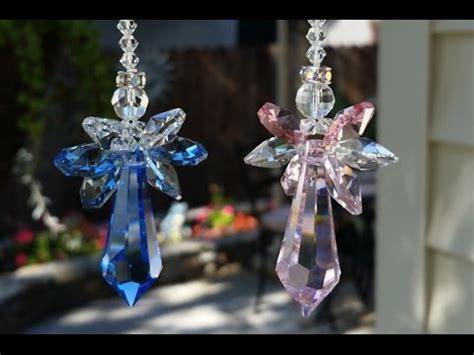 guardian angel crystal suncatcher butterflies  flowers