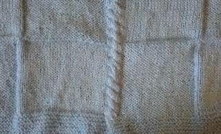 Knit Squares Baby Blanket Pattern