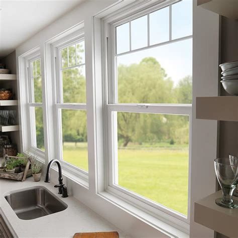 double hung windows wood  vinyl milgard