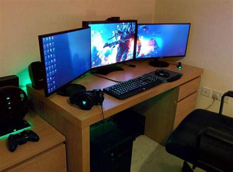 gaming desk setup ideas razer gaming setup gaming setup pinterest gaming