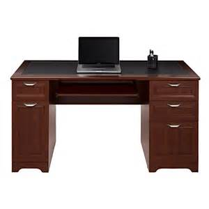 realspace magellan collection managers desk classic cherry