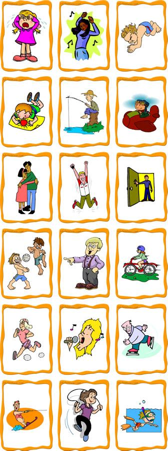 Action Flashcards (set A)  18 Free Printable Flashcards