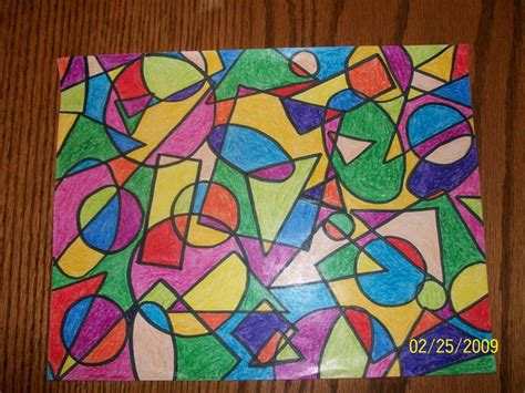 Abstract Painting Using Shapes by Geometric And Craft Geometric