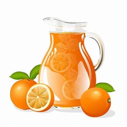 Juice Jug Clip Vector Orange Illustrations Cartoons