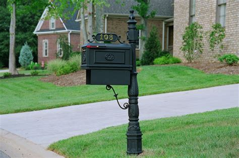 wrought iron mailbox post mailbox with paper box black residential curbside 1666