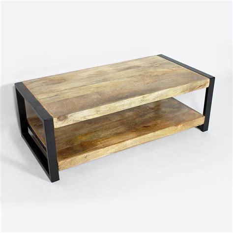 meuble cuisine angle table basse industrielle deux plateaux made in meubles