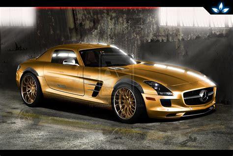 mercedes benz jeep gold gold mercedes benz sls amg by ceezsoonttlii on deviantart