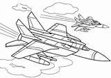 Coloring Fighter Pages Plane Aircraft War Print Boys Atv Raskraski Coloringtop sketch template