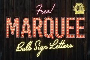 free pack of vintage style marquee bulb sign letters With marquee sign letters