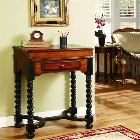 hooker seven seas desk seven seas jacobean twist leg flip top writing desk 500