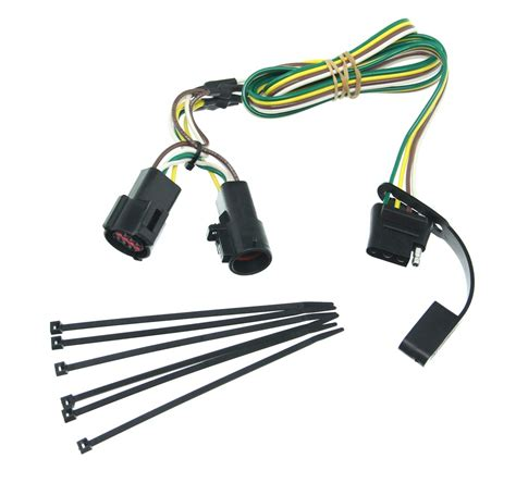 Curt Connector Vehicle Wiring Harness With Pole Flat