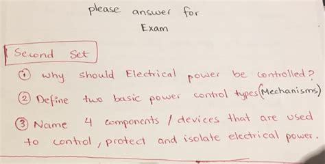 Define Answer by Solved Why Should Electrical Power Be Controlled Define T