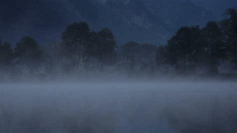Gloomy Background Scary Lake At Background Loop 2 Blue