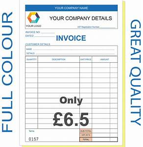 Business invoice books personalised duplicate a5 invoice for Company invoice book