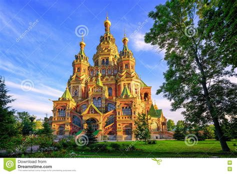 Russian Orthodox Church St Petersburg Russia Stock Image