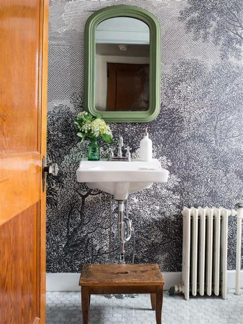 install wallpaper   bathroom hgtv