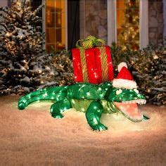 lighted tinsel animated alligator outdoor christmas